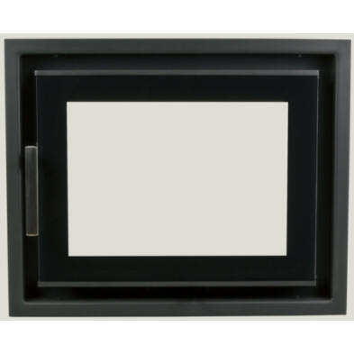 MINIMAL I. (470x360mm) DUPLA ROBAX ÜVEGGEL FEKETE LEMEZ KERETTEL