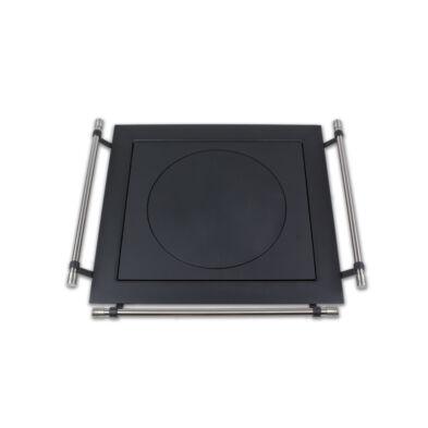 Tűzhely fedlap korláttal (lemez keret) 600*660 mm