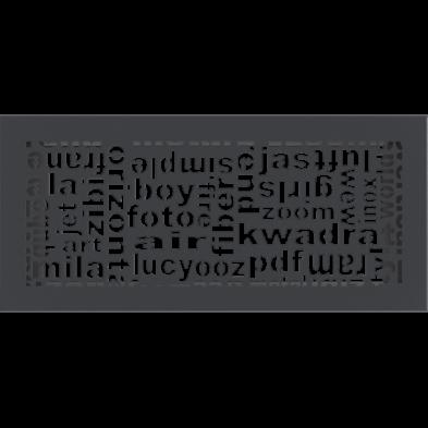 ABC SZELLŐZŐRÁCS GRAFIT 17x37cm