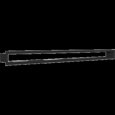 MINIMAL FEKETE KANDALLÓ SZELLŐZŐRÁCS 6x100cm /HÁTFAL NÉLKÜL/