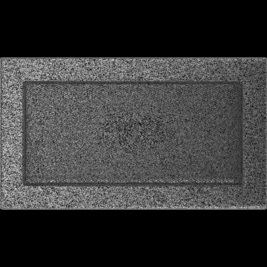 EGYSZERŰ SZELLŐZŐRÁCS FEKETE-EZÜST 17X30cm