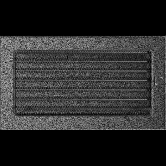 EGYSZERŰ SZELLŐZŐRÁCS FEKETE-EZÜST 17X30cm ZSALUS