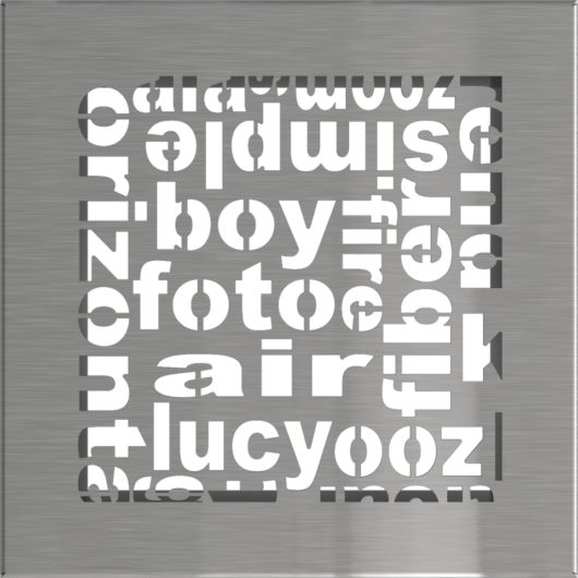 ABC SZELLŐZŐRÁCS INOX 17x17cm