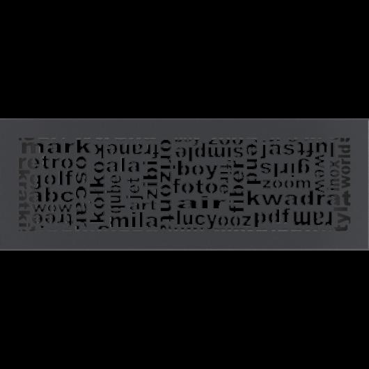 ABC SZELLŐZŐRÁCS GRAFIT 17x49cm