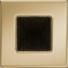 Kép 1/3 - GOLD KANDALLÓ SZELLŐZŐRÁCS 11x11cm