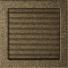 Kép 2/4 - EGYSZERŰ SZELLŐZŐRÁCS FEKETE-ARANY 22X22cm ZSALUS