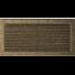 Kép 1/4 - EGYSZERŰ SZELLŐZŐRÁCS FEKETE-ARANY 22X45cm ZSALUS