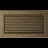 Kép 2/4 - EGYSZERŰ SZELLŐZŐRÁCS FEKETE-ARANY 17X30cm ZSALUS