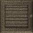 Kép 2/4 - OSKAR SZELLŐZŐRÁCS FEKETE-ARANY 17X17cm ZSALUS