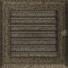 Kép 1/4 - OSKAR SZELLŐZŐRÁCS FEKETE-ARANY 17X17cm ZSALUS