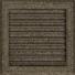Kép 1/4 - OSKAR SZELLŐZŐRÁCS FEKETE-ARANY 22X22cm ZSALUS