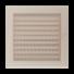 Kép 1/4 - OSKAR SZELLŐZŐRÁCS KRÉM 22X22cm ZSALUS