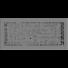 Kép 1/3 - ABC SZELLŐZŐRÁCS GRÁNIT 17x37cm